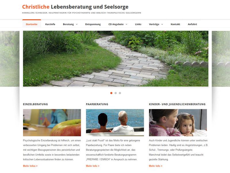 Hannelore Schneider – Christliche Lebensberatung und Seelsorge