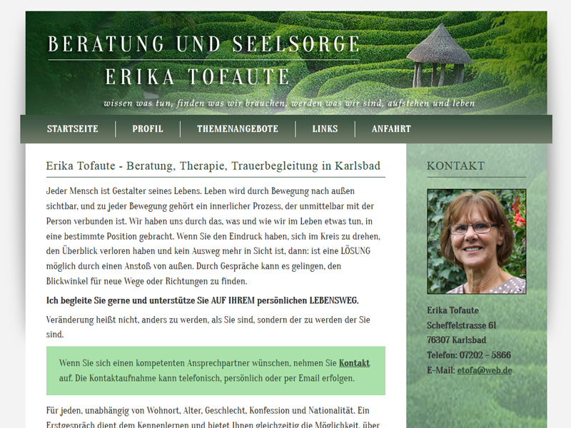 Beratung und Seelsorge Erika Tofaute