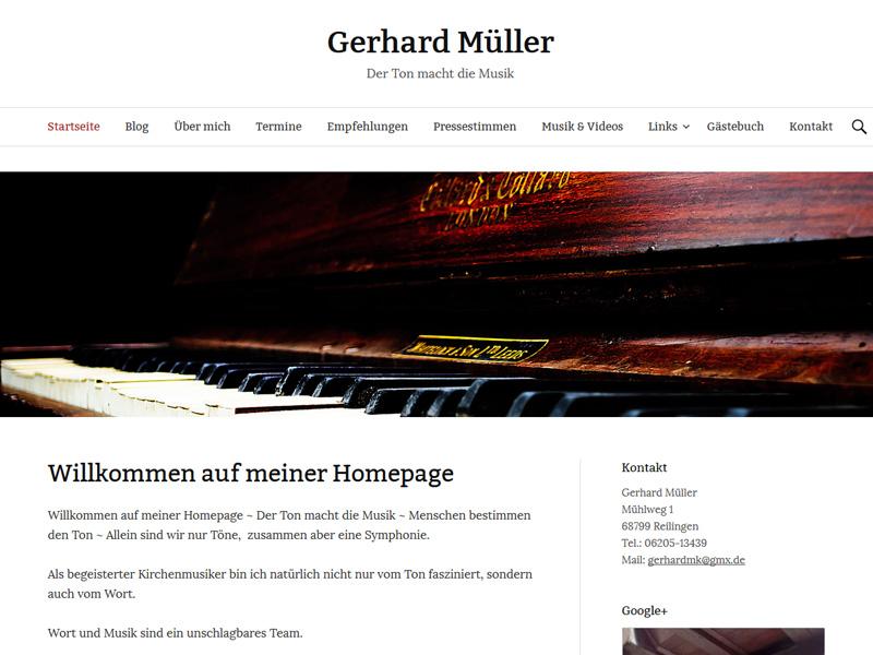 Gerhard Müller – Der Ton macht die Musik